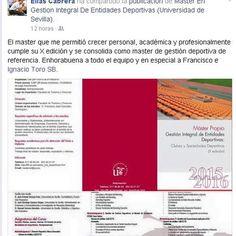 @MasteredUS @unisevilla @ftfsevilla. Últimos días para inscribirse: mastered@us.es 617 098 569  https://www.facebook.com/MASTER.GESTION.INTEGRAL.ENTIDADES.DEPORTIVAS/posts/658598970909137:0