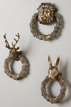 use these as towel holders! Fabled Fauna Doorknocker #anthropologie