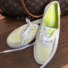 """✨FLASH SALE!✨NWT RARE Keds Sneakers  Sample shoe for Spring 2016 as described in last picture. Size women's 6. Beautiful and perfect condition, never worn obviously. """"Scattered geo white / lime"""" is the name. These are sooo cute and comfy. keds Shoes Sneakers"""