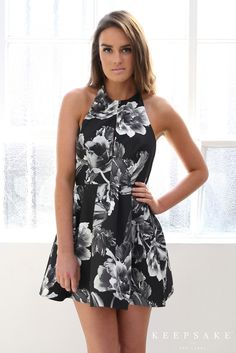 keepsake beautiful liar dress - monochrome bloom | Esther clothing Australia and America USA, boutique online ladies fashion store, shop global womens wear worldwide, designer womenswear, prom dresses, skirts, jackets, leggings, tights, leather shoes, accessories, free shipping world wide. – Esther Boutique