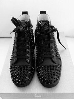 3ddb4f4b7d0e Louboutin all black spike sneakers