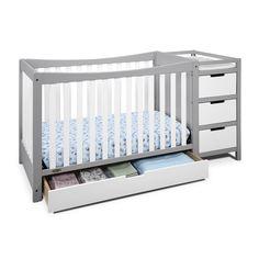 Graco Remi 4-in-1 Convertible Crib & Changer, White