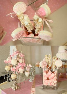 Amazing MKR Creations: Shabby Chic, So Cool, Displaying Cake Pops With Chandelier  Beads · Shabby Chic Baby ShowerChic ...