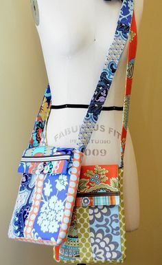 Make yourself a mini messenger bag that is perfect for traveling. This bag is lightweight and features a pocket on the back and an adjustable strap!