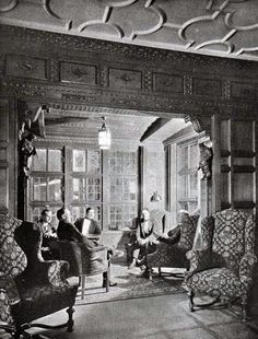 First Class Smoking Room, S.S. Leviathan, 1923.
