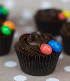 Cupcakes de Chocolate con M&M's @Objetivo: Cupcake Perfecto - Alma's Cupcakes te has superado una vez más