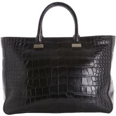 The Row Alligator Day Luxe Tote ($39,000) ❤ liked on Polyvore