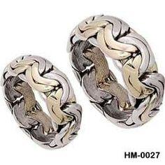 silver wedding band handmade chain look designs by erkmensilver, $140.00