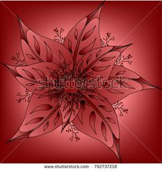 Leaves and berries in red tones art