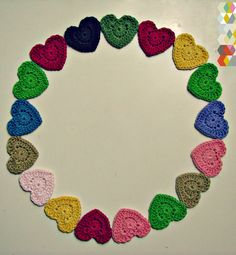 hamoraima: coeurs au crochet