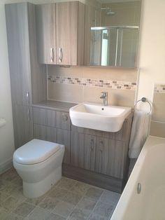 Bathroom Storage With Bathroom Installation In Leeds Small Bathroom Ideas Uk, Small Bathroom Inspiration, Bad Inspiration, Family Bathroom, Diy Bathroom Decor, Bathroom Layout, Bathroom Storage, Modern Bathroom, Small Bathrooms