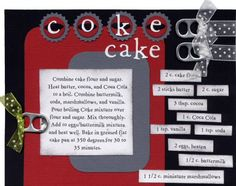 Part1: Recipe Scrapbook - Coke Cake