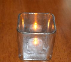 Mercury Glass Candle Holder Silver Votive Holder by SuesAkornShop