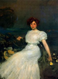 Ramon Casas i Carbó - Retrato de la señora Baladia, 1908