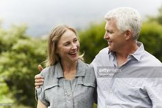 Stock Photo : Happy mature couple in park