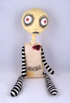 Voodoo Bebe - numbered art doll. $70.00, via Etsy.