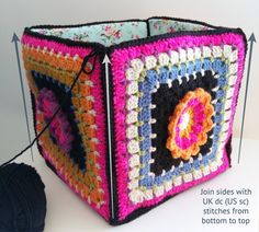 Frida's Flowers project bag – assembly and handles