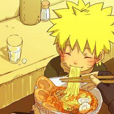 Young Naruto Uzumaki eating ramen <3 #adorable