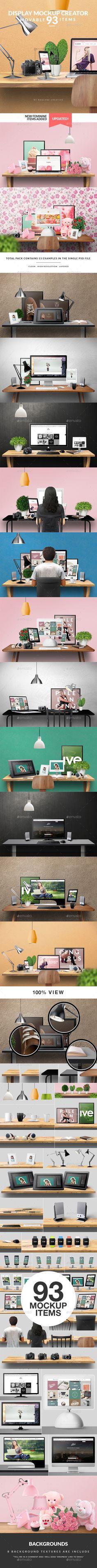 Display Mockup Creator #design Download: http://graphicriver.net/item/display-mockup-creator/10005907?ref=ksioks