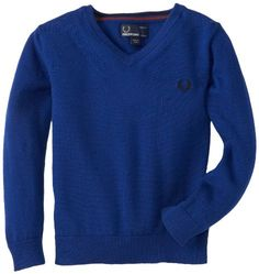 Fred Perry Boys 2-7 Kids V-Neck Sweater, Medieval « Impulse Clothes