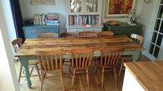 Scaffold board farmhouse table