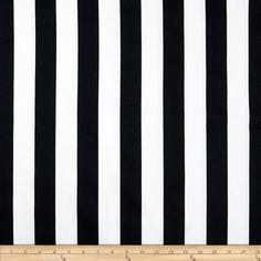 Premier Prints Canopy Stripe Black Fabric