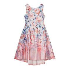 Girls' lilac floral print dress