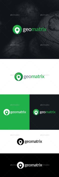 Geo Matrix Logo Template by BlinVarfi Logo template suitable GIS systems and digital map programming / coding companies, or applications. The design involves a matrix