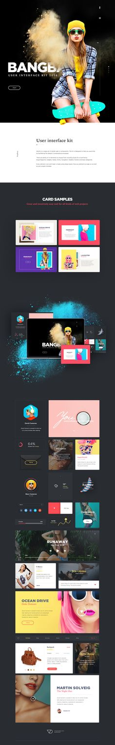Bang is a large set of stylish web UI components. The kit is designed to help you save time by facilitating the design or prototyping processes.There are plenty of UI elements to choose from including styles for e-commerce, blog/magazine, widgets, media…