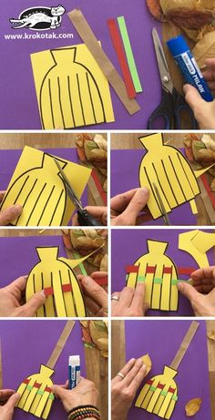 fall crafts for toddlers krokotak Halloween Crafts For Toddlers, Autumn Crafts, Halloween Crafts For Kids, Paper Crafts For Kids, Craft Activities For Kids, Toddler Crafts, Halloween Decorations, Halloween Couples, Halloween Recipe