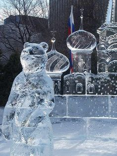 the-capital-of-russia ice sculpture