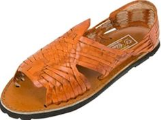 Women's Huarache Sandals - Reddish Brown - Mexican Sandals - 100% Leather Sandal
