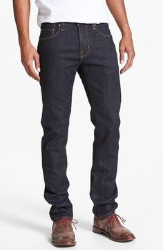 $168, Navy Jeans: AG Jeans Ag Dylan Skinny Fit Jeans. Sold by Nordstrom. Click for more info: http://lookastic.com/men/shop_items/24645/redirect