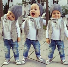 Hear at My Sundae, we LOVE! this winter look! we will be stocking beanies & scarves & cardigans exactly like these ones, to style your little just like this little dude! www.mysundae.bigcartel.com