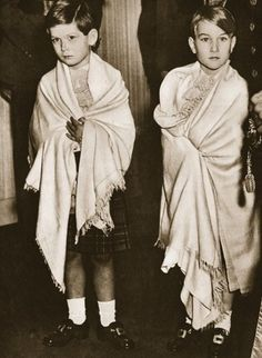 Prince William of Gloucester (R) with his cousin Prince Michael of Kent as pageboys at the wedding of their mutual cousins, the-then Princess Elizabeth to Prince Phillip.
