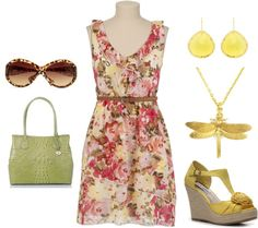 """Yellow Wedges"" by yellowbells on Polyvore"