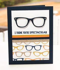 Geek Is Chic, Geek Is Chic Glasses Die-namics - Lisa Johnson #mftstamps