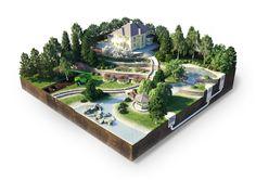 Ландшафтный дизайн (Рисунки и иллюстрации) - фри-лансер Павел Бирт [multiplex].