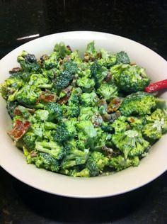 Low Carb Bacon Broccoli Salad