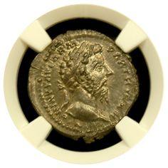 Marcus Aurelius Silver Denarius NGC Choice Mint State