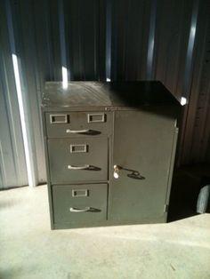 $150 Vintage Sears And Roebuck File Cabinet/safe U2026