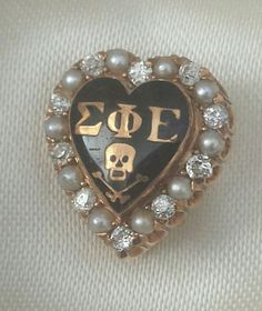 $696 100-year-old Sigma Phi Epsilon Fraternity pin with diamonds and pearls in Fraternity & Sorority   eBay