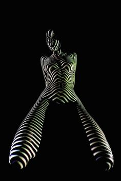 #lightpainting #mapping Beautiful #portrait by French #photographer Dani Olivier.