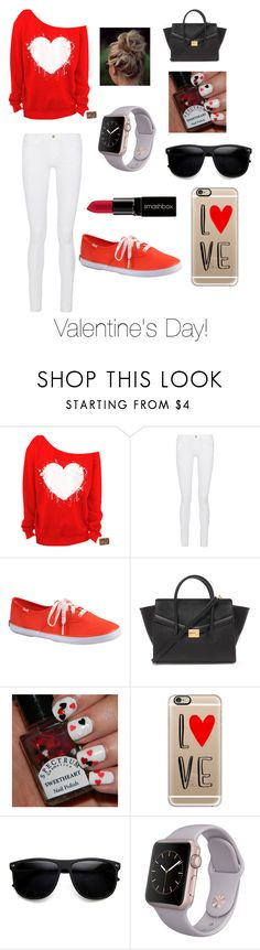 """""""Valentine's Day Look!"""" by orr112 ❤ liked on Polyvore featuring Frame, Keds, Forever 21, Casetify, ZeroUV and Smashbox"""