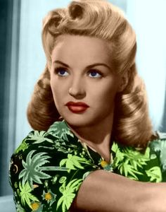 Betty Grable's rolled perfection!