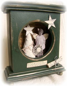Handmade Christmas Shadowbox Vintage Christmas by QueenBe on Etsy
