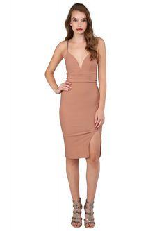 Got Them Blushing Midi Dress in Rose