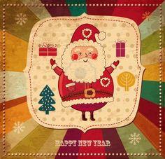 Google Image Result for http://us.123rf.com/400wm/400/400/moleskostudio/moleskostudio1209/moleskostudio120900148/15381639-christmas-vintage-illustration-with-funny-santa-claus.jpg