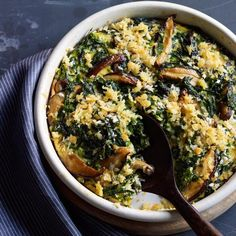 Swiss Chard Casserole with Shiitake Mushrooms | Delicious and easy to ...