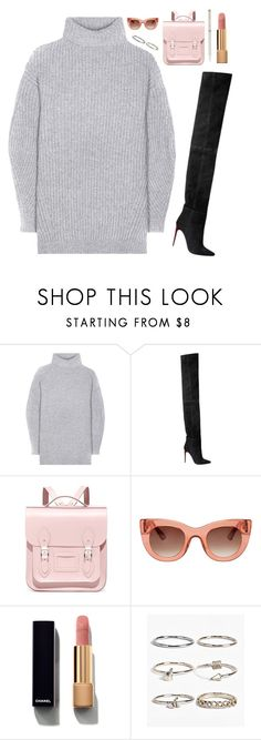 """""""Ariana G."""" by mode-222 ❤ liked on Polyvore featuring Acne Studios, Balmain, The Cambridge Satchel Company, Thierry Lasry, Chanel, Boohoo and Hermès"""